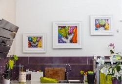 paintings on the wall