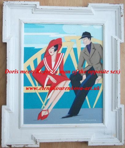 artdeco couple painting