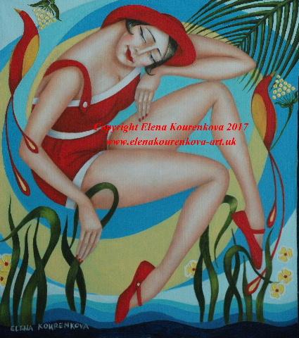 art deco figurative artwork painting