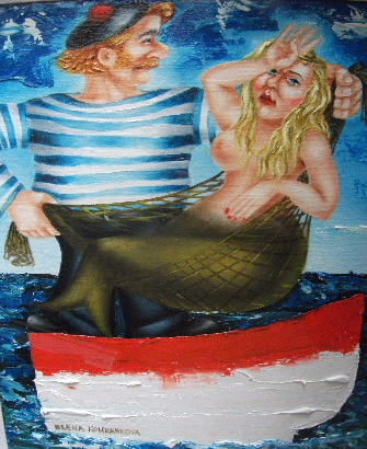 quirky nautical humorous painting