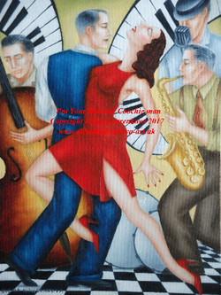 swing jazz band saxophone image