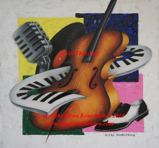"""All that jazz"" music theme artwork"