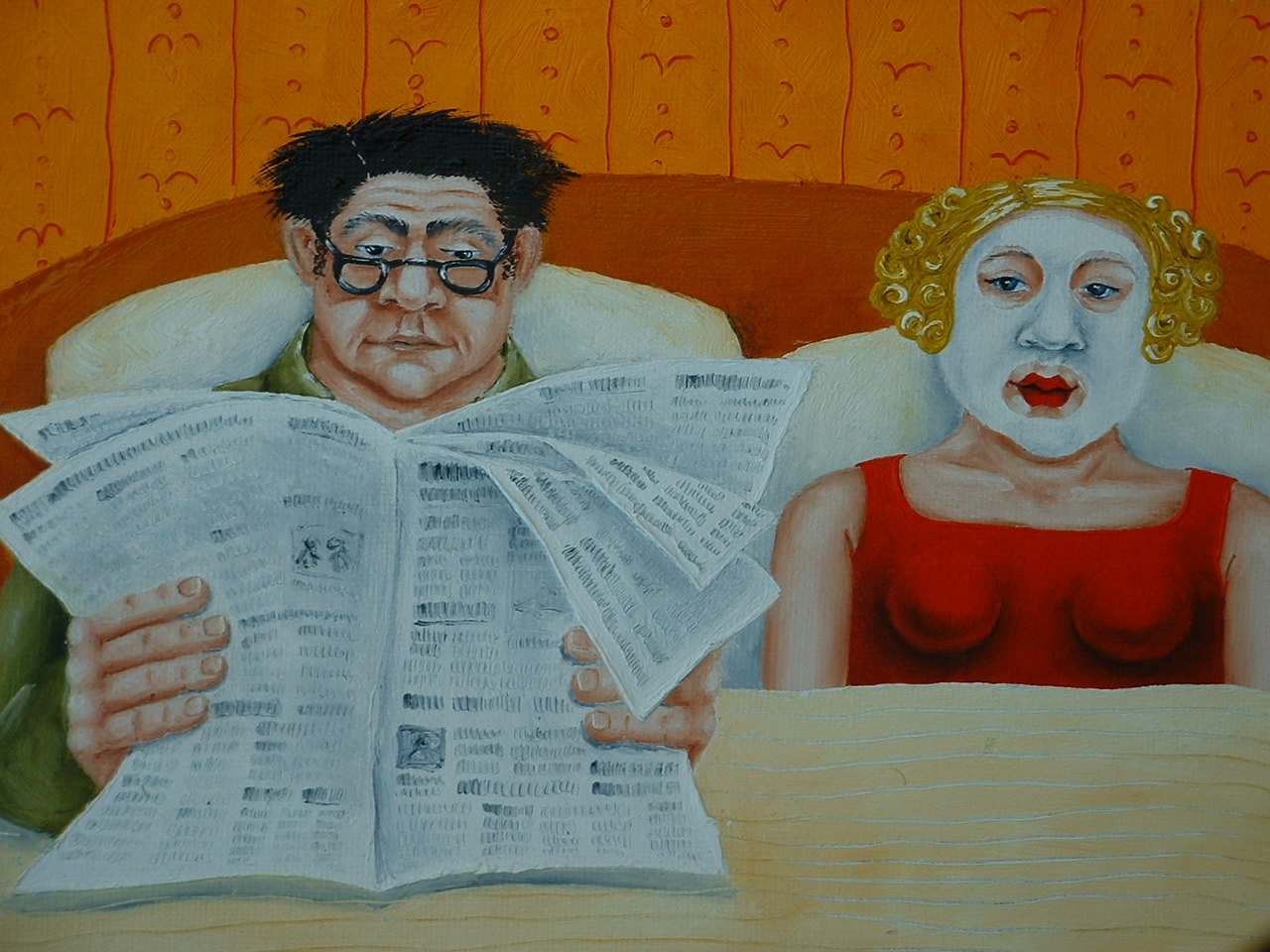 quirky figurative art painting