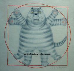 """leonardo de cat""-quirky cat images"