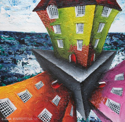 quirky architectural painting