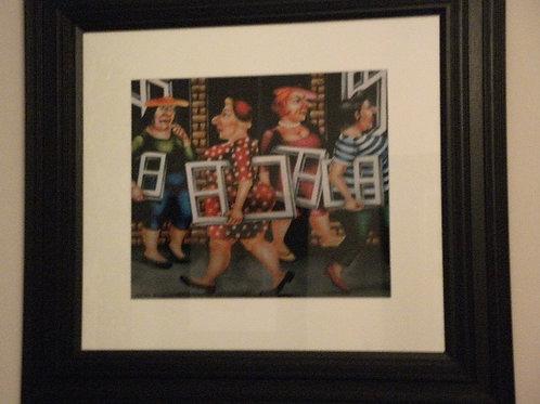 """Framed art print """"Window Shopping"""""""
