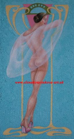 Artdeco nude artwork