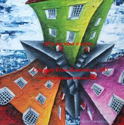 elena kourenkova buildings painting