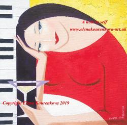 illustration style minimalist music painting
