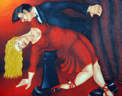quirky figurative romance painting