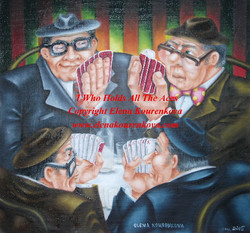 """""""I who holds all the aces"""" painting"""
