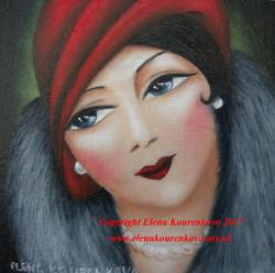 art deco 1920s lady portrait