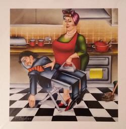 kitchen domestic scene art images