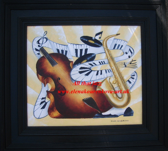 abstract music art-saxophone,piano