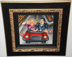 whimsical humorous original painting
