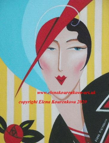 art deco lady image