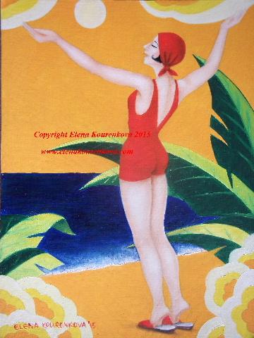 vintage art deco poster style art