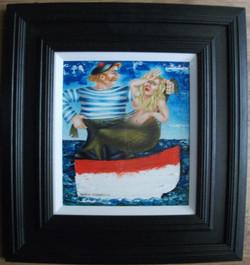 Whimsical nautical scottish painting