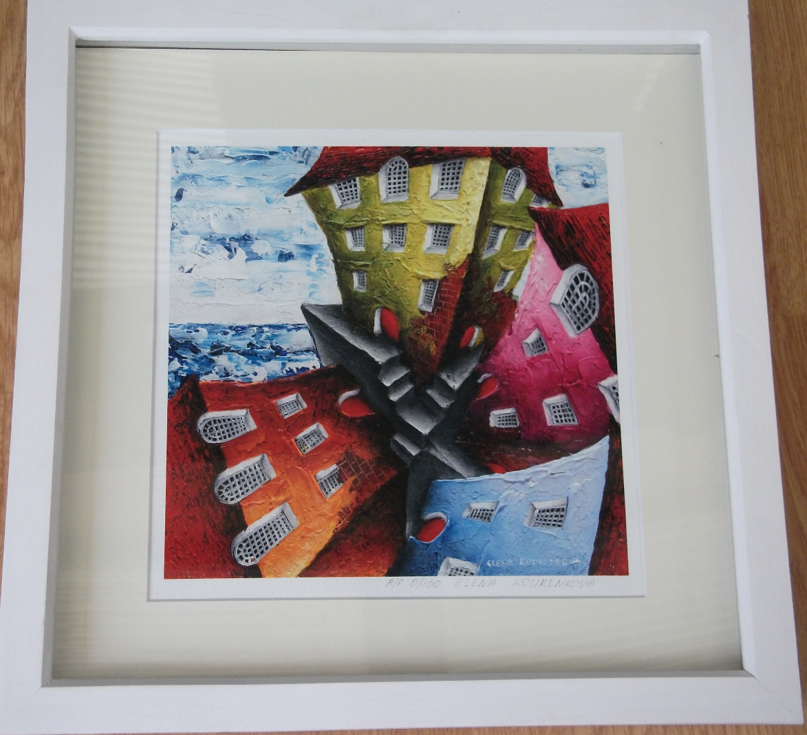 small framed giclee print
