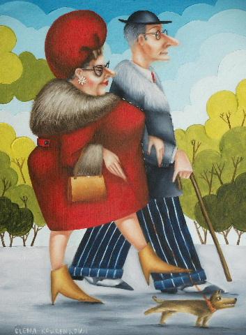 humorous original oil art painting