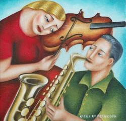 original music theme painting
