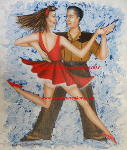 swing dance and music painting