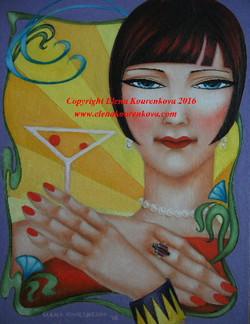 Art deco canvas art painting