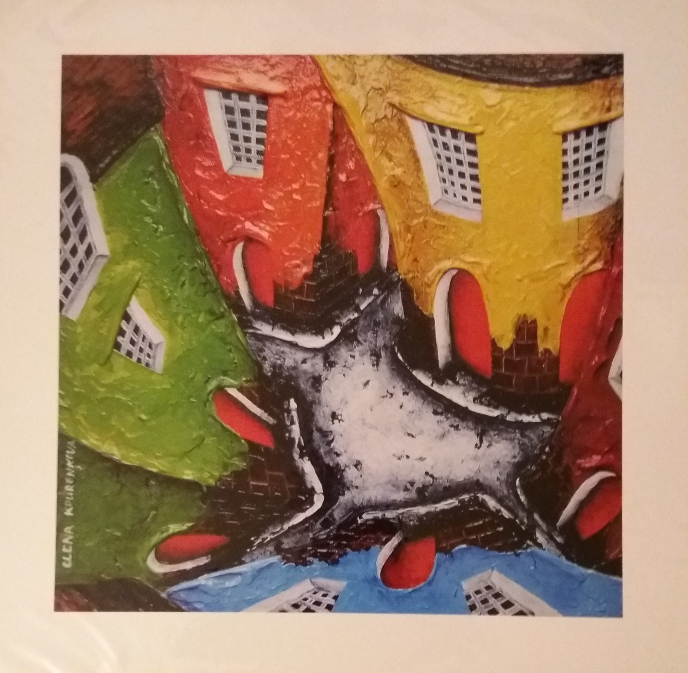 quirky cityscape giclee art print