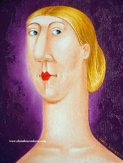 funny face original painting