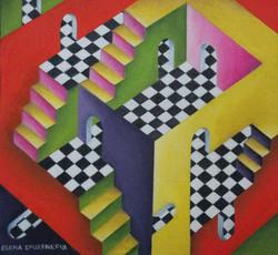 Abstract conceptual colourful art