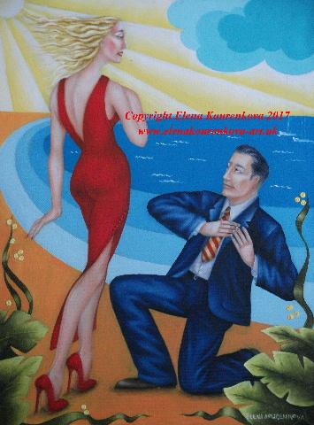 love and romance artdeco painting