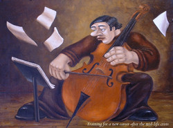 quirky figurative musical painting