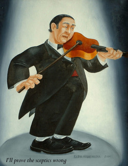 quirky musical painting