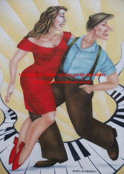vintage 1950s dance couple