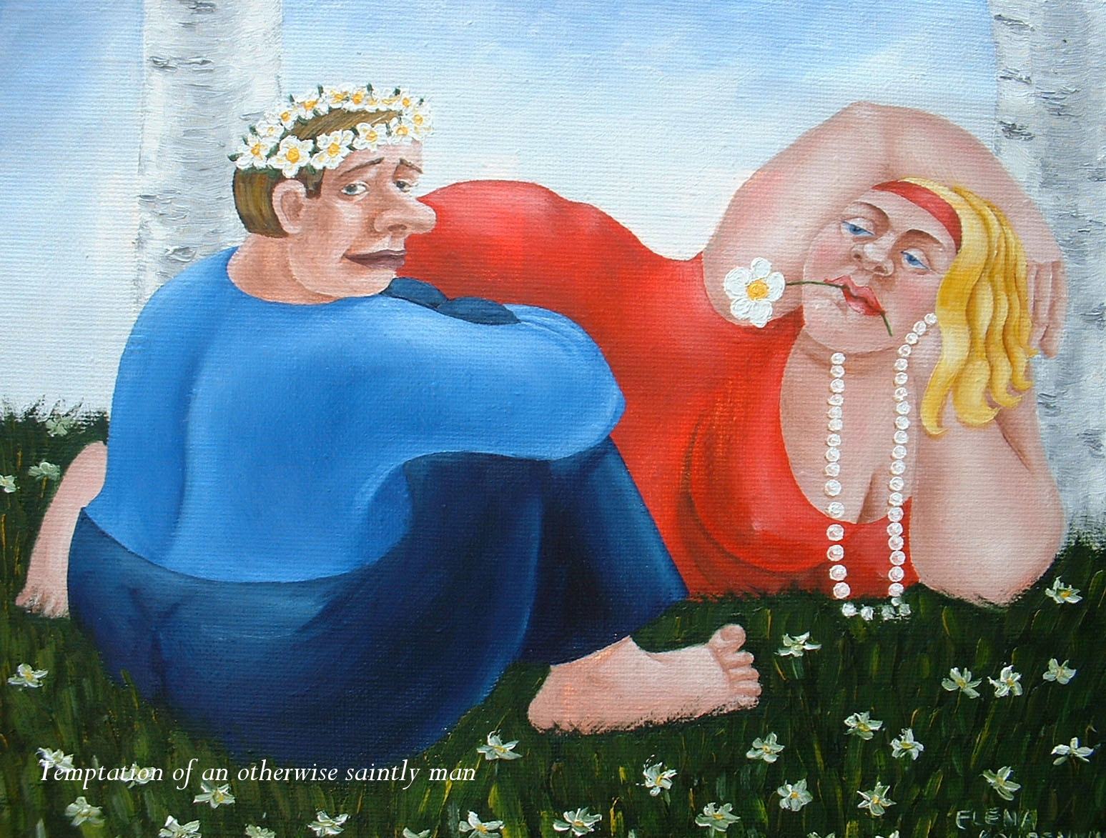 quirky figurative humorous painting