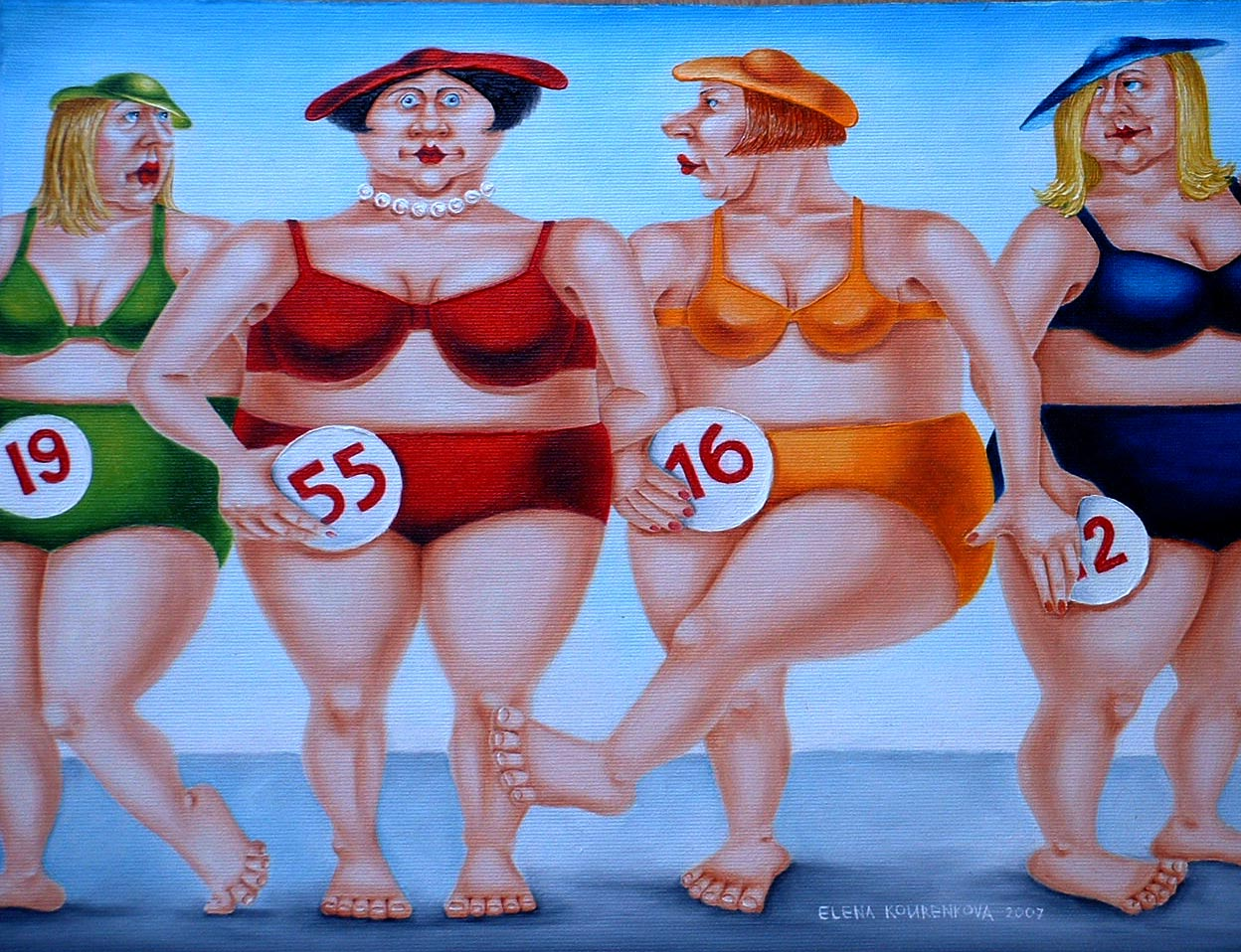 quirky humorous figurative art image