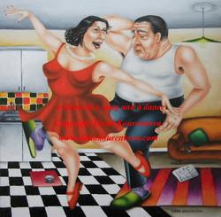humorous art painting