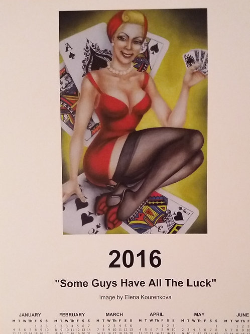 2016 vintage Pin-Up wall calendar-SOLD OUT