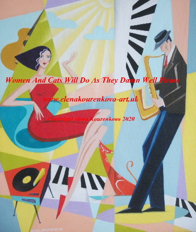 mid century modern music painting