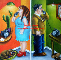 modern figurative art painting,