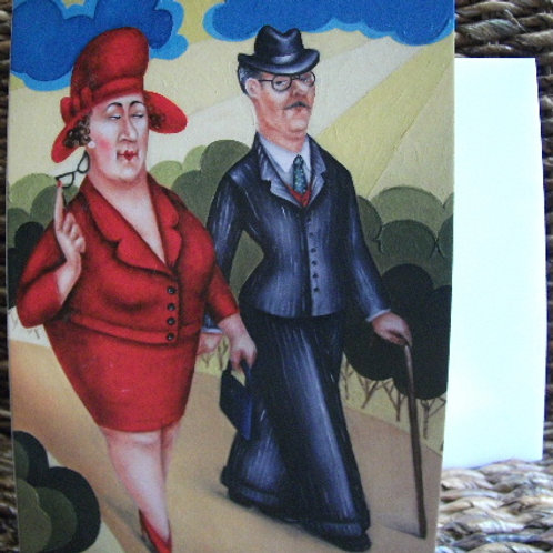 """Keeping up appearances"" - greeting card"