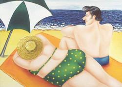 seaside holiday, couple on the beach