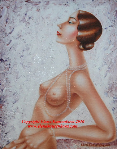 Art Deco Nude painting