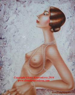 Art Deco Nude painting