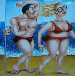whimsical witty artwork painting