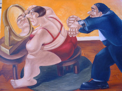 quirky humorous figurative painting