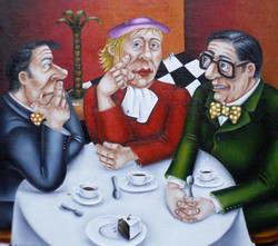 quirky humorous figurative paintings