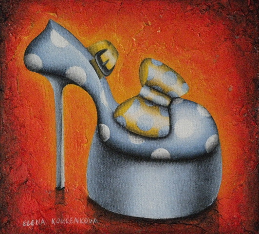 blue by you-quirky shoe painting