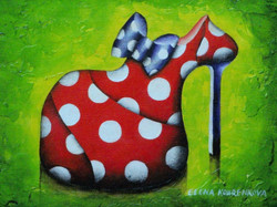 quirky stiletto shoe art painting