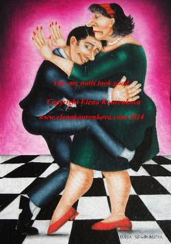 humorous dance painting